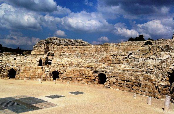 Roman Coloseum in Maresha-Beit Guvrin National Park