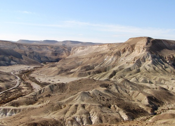 Sde Boker desert view in the Negev Israel