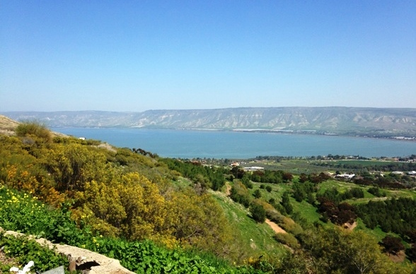 view of the Sea of Galilee in the north of israel