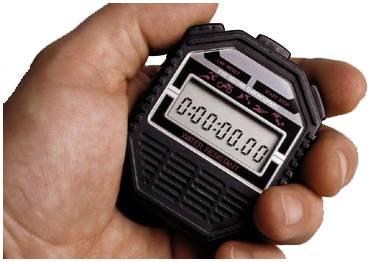 Stopwatch symbolizing Israel's record breakers