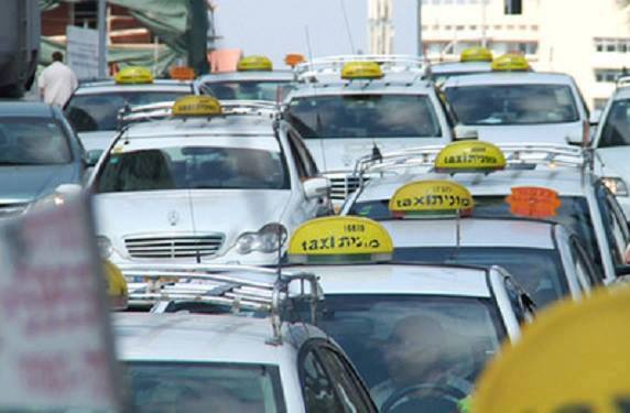 taxis on the streets of Tel Aviv