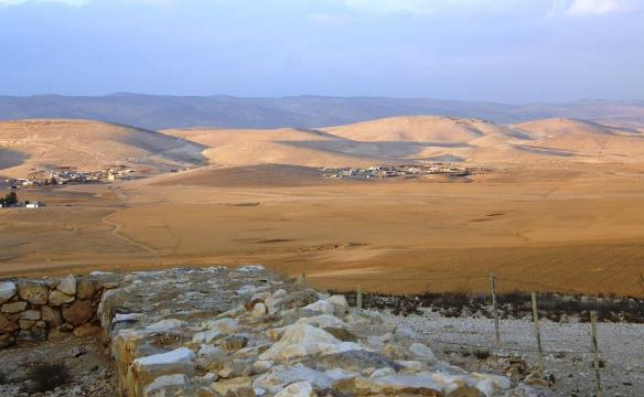 Spectacular desert scenery from Tel Arad in the south of Israel