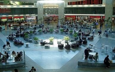 ben gurion tel aviv airport waiting area after security