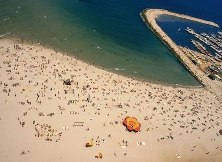 Tel Aviv beaches south of the Tel Aviv Marina - Gordon Beach, Frishman Beach and Bograshov beach