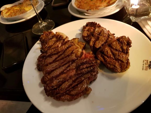 mouthwatering steaks at A Place of Meat restaurant in Neve Tzedek Tel Aviv