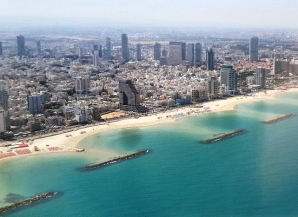 Tel Aviv view from airplane