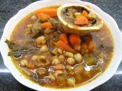 amazing Yeminite food at Keren HaTeimanim - yemenite bone soup