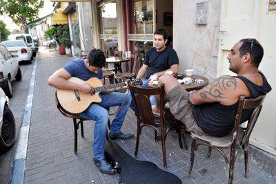 cool atmosphere on the streets of Florentine Tel Aviv