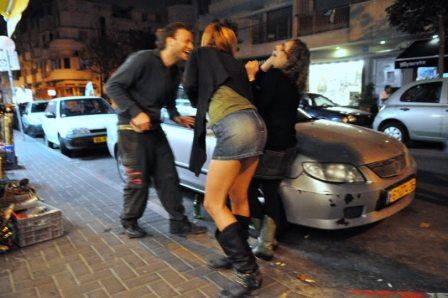 streets of Forentine in Tel Aviv