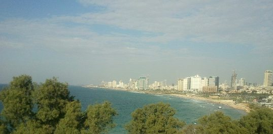 view of Tel Aviv from Jaffa hill