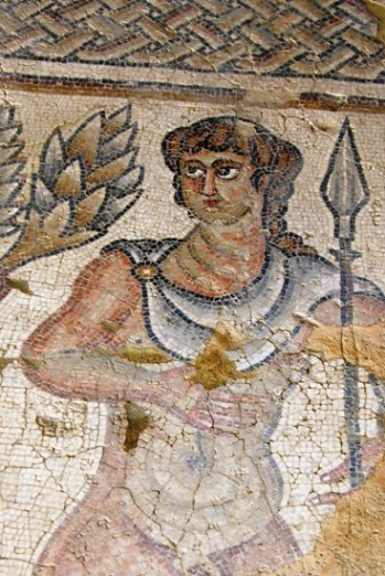 One of the beautiful mosaics from Zipori in the Galilee in North Israel
